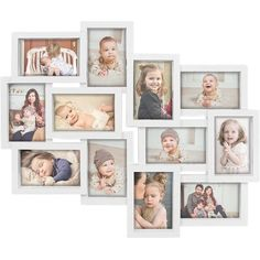 White Picture Frames, Collage Picture Frames, Frames On Wall, Picture Walls, Collage Photo, Photo Collages, Wall Collage, Photo Wall Decor, Outdoor Furniture Design