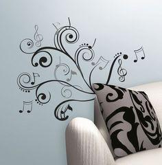 Attractive Musical Note Scroll Peel U0026 Stick Wall Decals | Walmart.ca Part 19