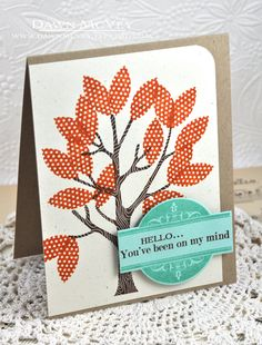 On My Mind Card by Dawn McVey for Papertrey Ink (October 2013)