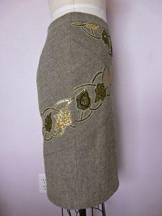 Vogue 1092 - Green wool sequined skirt   Amanda's Adventures in Sewing   Bloglovin'