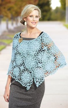 Chic motif cape crochet kit. $24.99. Linen or Seafoam for me. Maybe one in Buttercream for Mom?