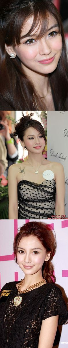 """Angela Yeung (born 28 February 1989), better known by her stage name Angelababy, is a Hong Kong-based Chinese model, actress, and singer. Her stage name came from the combination of her English name """"Angela"""" and her nickname """"Baby""""."""