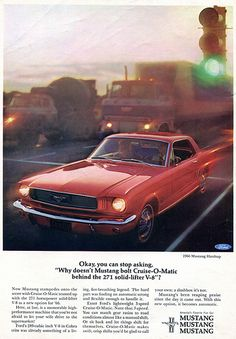1966 Ford Mustang Hardtop Advertising Car and Driver Magazine January 1966 ford mustang