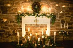 Picture Of Cozy Fireplace Décor Ideas For Your Big Day 7