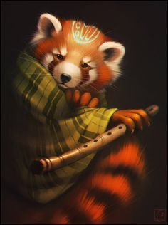 Red panda by GaudiBuendiaХудожник #GaudiBuendia (#Alexandra_Khitrova)