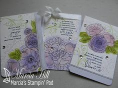 Marcia's Stampin' Pad: Make It Monday #247 - Watercolored Note Cards