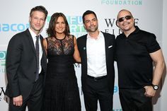 Peter Scanavino, Mariska Hargitay, Danny Pino and Ice-T attend The Joyful Revolution Gala hosted by Mariska Hargitay's Joyful Heart Foundation at Spring Studios on May 6, 2015 in New York City.  (Photo by Cindy Ord/Getty Images  for Joyful Heart Foundation)