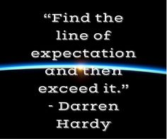 The line of expectation