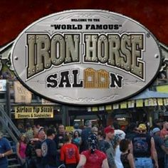The World Famous Iron Horse Saloon - Ormond Beach Florida Daytona Bike Week 2014 - one of the most popular stops during Bike Week in Daytona.