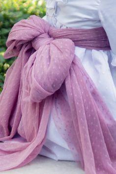 Hacer lazo vestido comunion