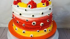 Make this easy to make Halloween cake with DIY eyes made with candy melts