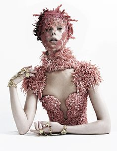 Outtake of Frida Gustavsson in 'Jewel in the Crown' photographed by Tim Walker for American Vogue May 2012