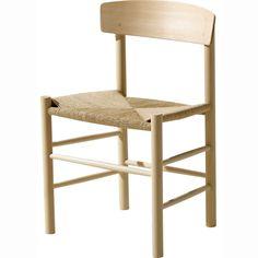 J39 stol, eik såpebehandlet med naturfletting i gruppen Møbler / Stoler / Stoler hos ROOM21.no (123244)