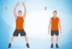 An illustration of jumping jacks.