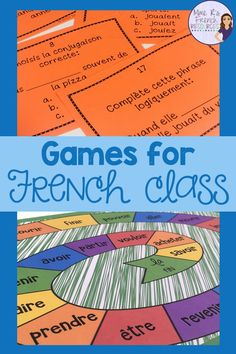 Are you a French teacher who wants to add more games for practicing vocabulary and verbs? If you teach American FSL, French immersion, or Core French and want to find engaging and effective games for French Language Lessons, French Language Learning, French Lessons, Spanish Lessons, Spanish Language, Learning Spanish, French Learning Games, French Flashcards, French Worksheets