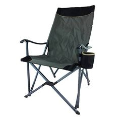 Introducing Onway Aluminum Portable Folding Premium Sling Relax Chair Gray  Camping Chair Garden Chair Tailgating Outdoor Events Solid Armrest with Ergonomic Angled Backrest. Great product and follow us for more updates! Lawn Chairs, Garden Chairs, Club Chairs, Outdoor Chairs, Camping Furniture, Outdoor Furniture, Sun Chair, Relax Chair, Folding Camping Chairs