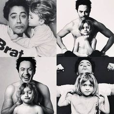 Robert Downey Jr es un padre muy simpático  FOTO: Instagram