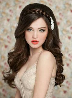 So before you decide which hairstyle to wear for your wedding checkout this 45 best wedding hairstyles for long hair. 2015 Hairstyles, Wedding Hairstyles For Long Hair, Fancy Hairstyles, Wedding Hair And Makeup, Bride Hairstyles, Bridal Hair, Hair Makeup, Short Hair, Festival Hairstyles