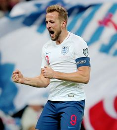 """ Harry Kane of England celebrate after scoring hes goal during the UEFA Euro 2020 qualifier between England and Montenegro at Wembley Stadium on November 2019 in London, England. Harry Kane, Wembley Stadium, Neymar Jr, Tottenham Hotspur, Montenegro, Football Players, London England, Lions, Celebrities"