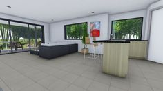 internal living space of the Orchard design by Dj Roberts