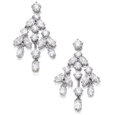 Pair of Diamond Pendent Earrings, Harry Winston | lot | Sotheby's ❤ liked on Polyvore featuring jewelry, earrings, wine jewelry, harry winston earrings, harry winston, earrings jewelry and diamond jewellery
