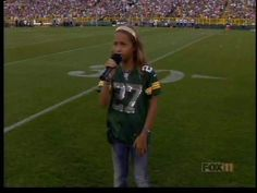 Skylar Stecker sings national anthem at Packers Family Night - this 10-year-old girl is amazing!