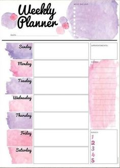 Best 12 Get this unique one-page printable weekly layout for your bullet journal. Best 12 Get this unique one-page printable weekly layout for your bullet journal + 3 more awesome designs! To Do Planner, Daily Planner Pages, School Planner, Study Planner, Week Planner, Budget Planner, Diary Planner, Weekly Planner Template, Daily Planner Printable