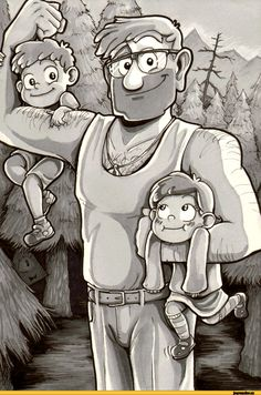Gravity Falls - Dipper, Mabel and Stan
