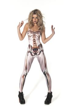 Muscle and Bone Catsuit by Black Milk Clothing