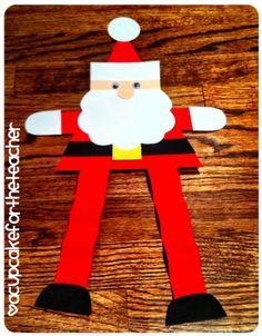 A Cupcake for the Teacher: Jolly Santa {Craftivity & Printables}