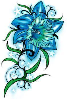dd2bc78d3 Daffodil Flower Tattoos, Birth Flower Tattoos, Flower Tattoo Designs, December  Birth Flower,