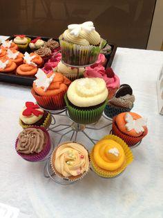 Cupcakes gemaakt voor een moederdagbeurs.