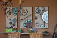 Mosaic panels with beautiful mid-mod style Mosaic Wall Art, Mosaic Diy, Mosaic Crafts, Mosaic Projects, Art Projects, Mosaic Ideas, Blue Artwork, Photo Mosaic, Mosaic Designs