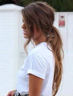 Girly ponytail