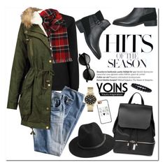 """""""Yoins"""" by oshint ❤ liked on Polyvore featuring Balmain, COSTUME NATIONAL, Topshop, BeckSöndergaard, Casetify, Marc by Marc Jacobs and yoins"""