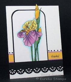 Like the way she wenr outside the box with the flower and outlined it with blue
