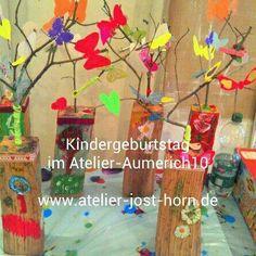 Für den schönsten Tag im Jahr erwarten die Kinder, dass sich die Eltern was tolles einfallen...,Kindergeburtstag im Künstler-Atelier in Rheinland-Pfalz - Saffig