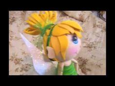 8abffd04909 Tinkerbell fofucha Tutorial Cake topper doll (spanish subtitle) - YouTube