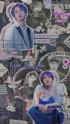 Bts Jin, Bts Bangtan Boy, Bts Boys, Hoseok Bts, Beauté Blonde, Bts Aesthetic Wallpaper For Phone, K Wallpaper, Bts Backgrounds, Bts Aesthetic Pictures