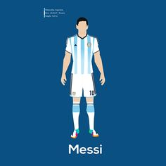 WorldCup Players by Luis Lopez, via Behance