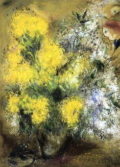 weepieschagall:    lifeinfluxus:    Flowers - Marc Chagall (1957)