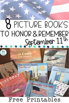 Teachers, are you looking for September picture books and activities to use for kids to bring Patriot Day into 11. September, Free Activities, Holiday Activities, 9 11 For Kids, Patriots Day Activities, Teacher Freebies, Teacher Resources, Remembering September 11th, Elementary Art