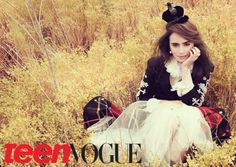 lily collins for teen vogue