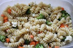 Sweet Veggie Pasta Salad | Brittany's Pantry The secret is in the dressing!!