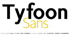 Font dňa – TyfoonSans (zľava 90%, rodina 13,30€) - http://detepe.sk/font-dna-tyfoonsans/