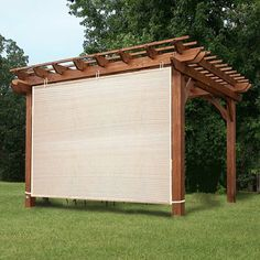 Garden Shade Fabric Adjustable Vertical Side Wall Panel for Patio/Pergola/Window Wheat - Outdoor Shade - Ideas of Outdoor Shade - Garden Shade Fabric Adjustable Vertical Side Wall Panel for Patio/Pergola/Window Wheat Beige Diy Pergola, Pergola Canopy, Wooden Pergola, Outdoor Pergola, Pergola Shade, Pergola Kits, Window Canopy, Shade For Patio, Pergola Roof