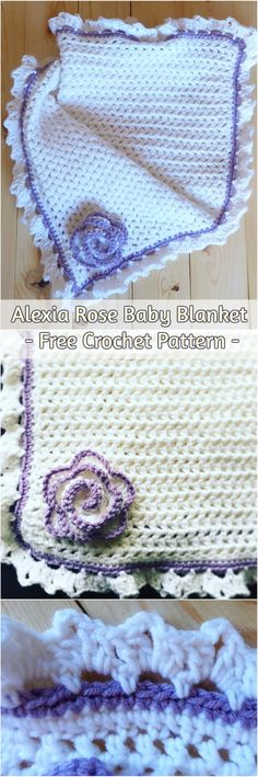 Alexia Rose Baby Blanket - Free Crochet Pattern