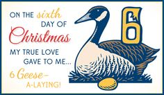 Free 6 Geese eCard - eMail Free Personalized Christmas Cards Online