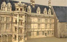 11. Castillo de Blois. Modelo virtual interactivo del castillo de Blois a traves del tiempo.