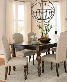 kelso 7-pc. dining set (dining table and 6 side chairs) - dining